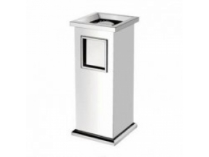 Square stainless steel trash