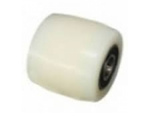 Small white forklift wheel